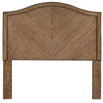 Mistana Di Camel Back Chevron Patterned Cerused Wood Queen Panel Headboard