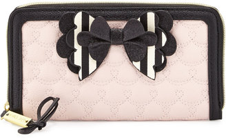 Betsey Johnson Boxed Hopelessly Romantic Zip-Around Wallet, Pink $50 thestylecure.com