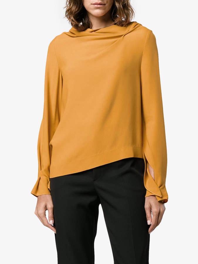 Roland Mouret Leyton draped asymmetric blouse