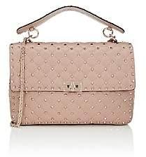 Valentino Women's Rockstud Large Leather Shoulder Bag - Poudre