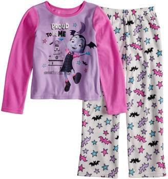 Disney Disney's Vampirina Girls 4-10 Vee Fleece Top & Bottoms Pajama Set