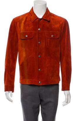Tom Ford Leather Button-Up Jacket