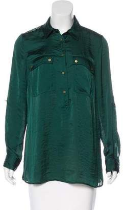 MICHAEL Michael Kors Collared Button-Up Top