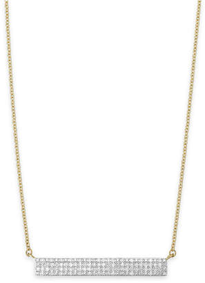 Wrapped Diamond Bar Pendant Necklace in 10k Gold (1/4 ct. t.w.)