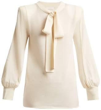 Chloé Tie-neck wool sweater