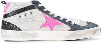 Golden Goose Grey Pink Mid Star sneakers