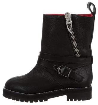 MCM Leather Moto Boots