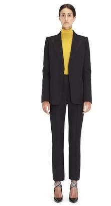 Lanvin Black Grain De Poudre Tailored Jacket