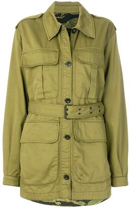 belted military jacket