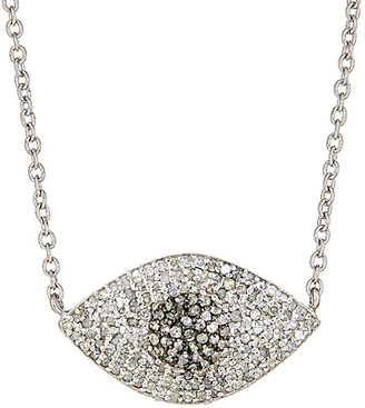 Forever Creations USA Inc. Forever Creations Silver 0.81 Ct. Tw. Diamond Evil Eye Necklace
