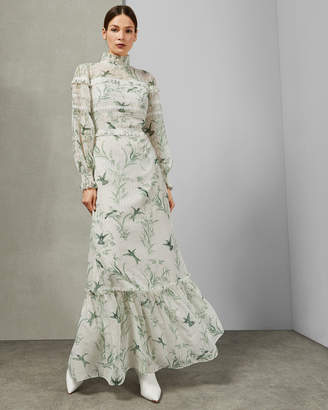 Ted Baker HHARIET fortune lace trim maxi dress