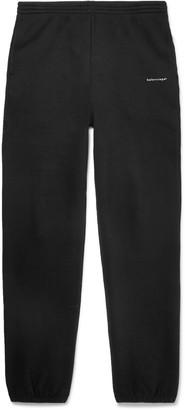Balenciaga Tapered Logo-Print Fleece-Back Cotton-Jersey Sweatpants
