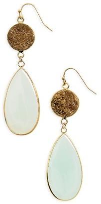 Women's Panacea Drusy Stone Drop Earrings $48 thestylecure.com