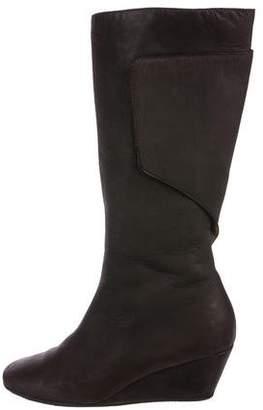 MM6 MAISON MARGIELA MM6 by Maison Martin Margiela Leather Wedge Mid-Calf Boots