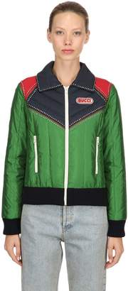 Gucci Nylon Ski Jacket W/ Crystals