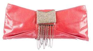 Judith Leiber Embellished Patent Leather Clutch
