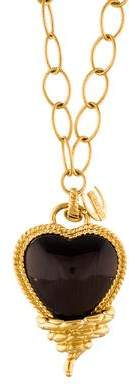 Just Cavalli Snake Heart Pendant Necklace