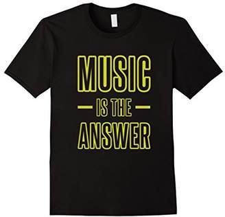 Music Is The Answer - Audio Lover / Musician T-Shirt