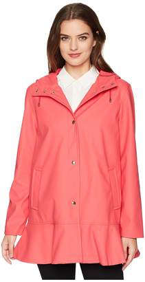 Kate Spade Mac Coated Peplum Jacket