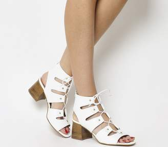 5e16e4c0195 Office Major Ghillie Block Heels White Croc Leather