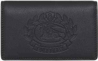 Burberry Small Embossed Crest Two-tone Leather Wallet
