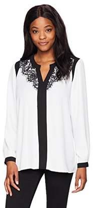 NY Collection Women's Mandarin Collar