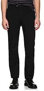 Officine Generale Men's Slub-Weave Cotton-Linen Pants-Black