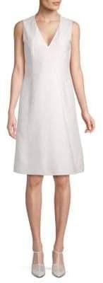 Akris Classic V-Neck A-Line Dress
