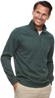 Croft & Barrow Men's Classic-Fit Easy-Care Stretch Fleece Quarter-Zip Pullover