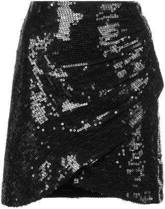 Alice + Olivia Alice+Olivia sequin wrap mini skirt