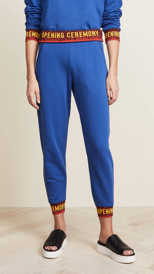 Fitted Sweatpants with Elastic Logo