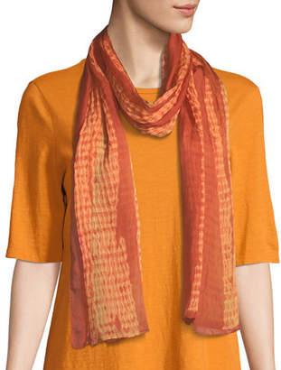 Eileen Fisher Woodgrain Shibori Silk Scarf