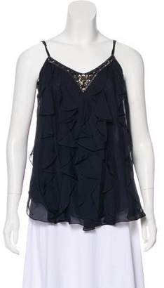 Rebecca Taylor Ruffle-Accented Sleeveless Blouse