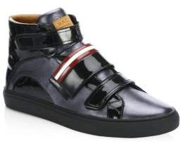Bally Herick Carbon Leather High Top Sneakers