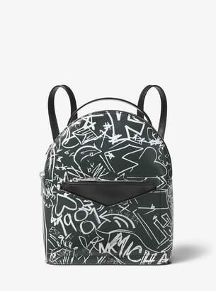 MICHAEL Michael Kors Jessa Small Graffiti Leather Convertible Backpack