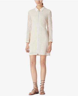 Avec Les Filles Collared Lace Mini Shirtdress $148 thestylecure.com