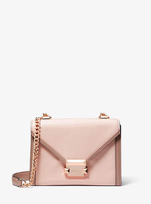 2c3975415811 at Michael Kors · Michael Kors Whitney Small Two-Tone Leather Convertible Shoulder  Bag