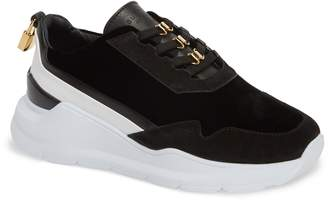Buscemi Strada Velvet Lace-Up Sneaker