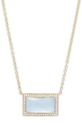 Ippolita Women's Diamond Pavé, Blue Topaz Rock and 18K Gold Candy Pendant Necklace