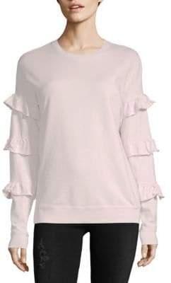 Saks Fifth Avenue COLLECTION Ruffle Sleeve Cotton Sweatshirt