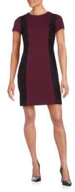 Karl Lagerfeld Paris Lace Paneled Sheath Dress