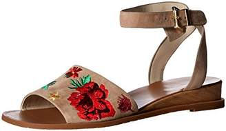 Kenneth Cole New York Women's Jinny Flat Sandal with Ankle Strap