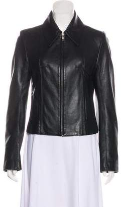 Ann Demeulemeester Zip-Up Leather Jacket