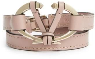 Valentino Leather Wrap Bracelet