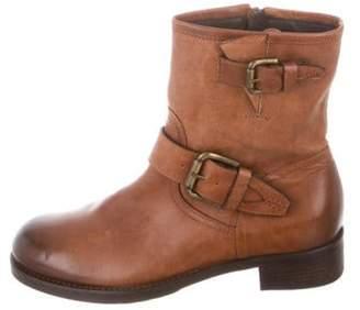 Alberto Fermani Leather Mid-Calf Boots Brown Leather Mid-Calf Boots