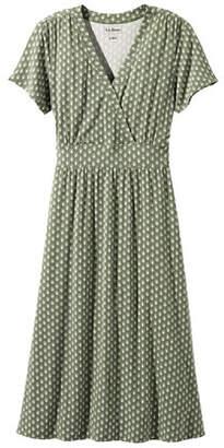 L.L. Bean (エルエルビーン) - サマー・ニット・ドレス、半袖 ジオ・プリント