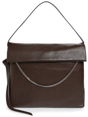 Allsaints 'Large Lafayette' Leather Shoulder Bag - Purple $378 thestylecure.com