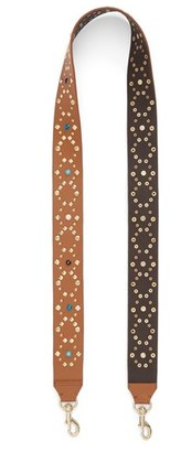 Rebecca Minkoff Multi Studded Guitar Bag Strap - Brown $95 thestylecure.com