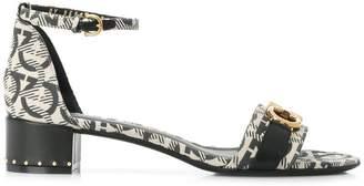 Salvatore Ferragamo Gancio monogram print sandals