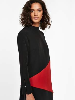 Wallis Colour Block Swing Dress - Black